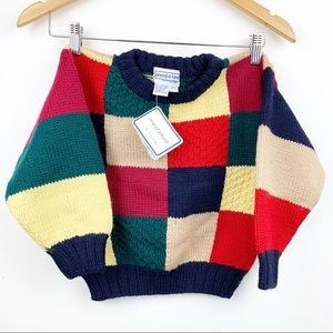 100% Virgin wool One of a kind Sweater 4-5 yrs old